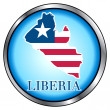 Liberia Round Button — Stock Vector