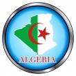 Algeria Round Button — Stock Vector