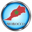 Morocco Round Button — Stock Vector