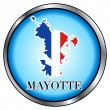 Mayotte Round Button — Stock Vector