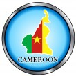 Cameroon Round Button — Stock Vector