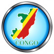 Congo Rep Round Button — Stock Vector #8516963