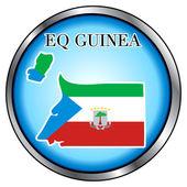 Eq Guinea Round Button — Stock Vector