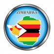Zimbabwe Sahara Round Button — Stock Vector
