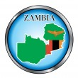 Zambia Sahara Round Button — Stock Vector