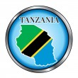 Tanzania Round Button — Stock Vector