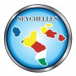 Seychelles Round Button — Stock Vector #8833649