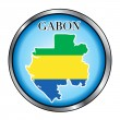 Gabon Round Button — Stock Vector