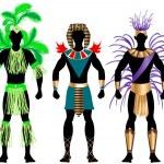 Male Carnival Costumes 2 — Stock Vector