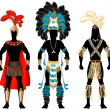 Male Carnival Costumes — Vettoriali Stock