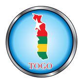 Togo Round Button — Stock Vector