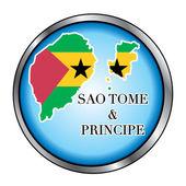 Sao Tome and Principe Round Button — Stock Vector