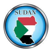 Sudan Round Button — Stock Vector
