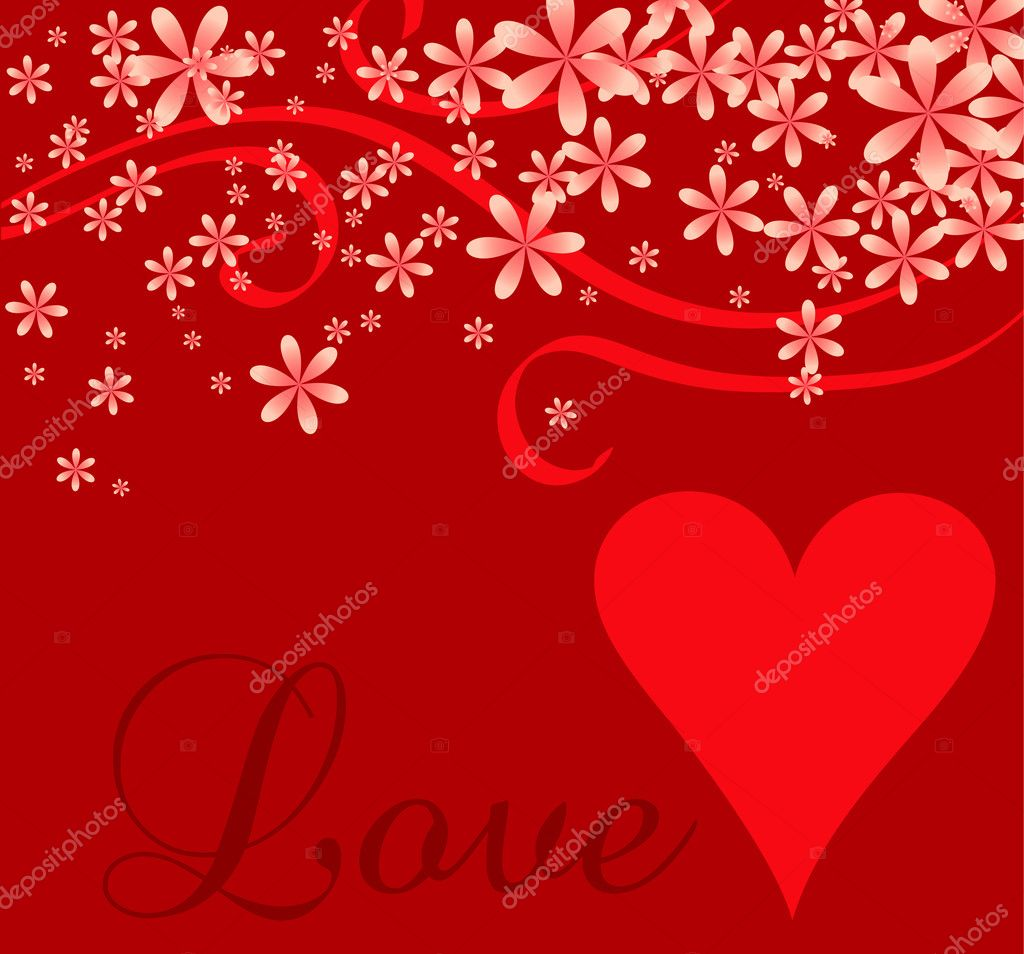 Vector illustration of a love or Valentines background. — Stock Vector #8832068