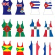 Stock Vector: Caribbean Tank Tops