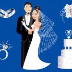 Wedding Icons — Stock Vector #9197344