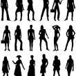 Stock Vector: Silhouettes 2