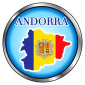 Andorra Round Button — Stock Vector