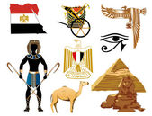 Iconos de egipto — Vector de stock