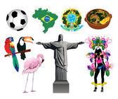 Brazil Icons — Stock Vector