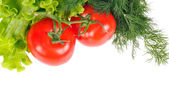 Légumes frais isolé sur fond blanc — Photo