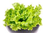 Fresh green salad isolated on white background — Stock Photo