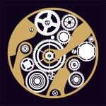 Silhouette clockwork — Stock Vector #9083757