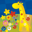 Childish applique - giraffe — Image vectorielle