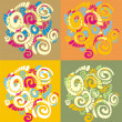 Royalty-Free Stock Imagem Vetorial: Pattern with original spiral structure