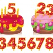 Birthday cake — Stock Vector #9160708