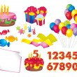 Birthday set - Stock Vector