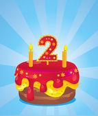 Gâteau d'anniversaire glacé — Vecteur
