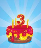 Birthday iced cake — Stock Vector