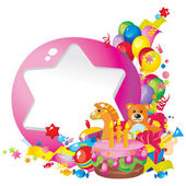 Children's birthday — Stock Vector