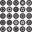 Automotive wheel — Image vectorielle