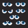 Vector de stock : Cartoon big eyes