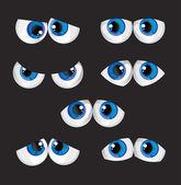 Cartoon big eyes — Stock Vector
