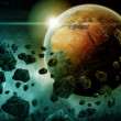 Stock Photo: Planet earth Apocalypse