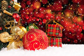 Christmas holiday background — Stok fotoğraf