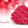 Decorative heart is on festive background — Stock Photo