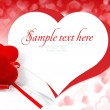 Velvet hearts on background hearts with space for text — Stock Photo #8883163