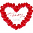 Stockfoto: Heart is from decorative hearts on white background