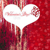 Decorative heart is on a red background — Stock Photo