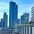 View of the business district, Frankfurt am Main, Germany - Stock Photo