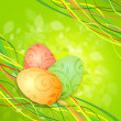 Easter eggs on a green spring background — Stock Photo #9669820