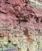 Rock sandstone texture, devonian stones — Stock Photo