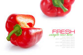 Red pepper isolated on white background — Stock Photo