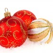Christmas balls isolated on the white - Stock Photo