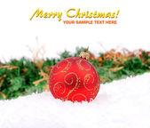 Christmas decoration baubles — Stock Photo