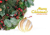 Feestelijke decoratie van kerstmis — Stockfoto